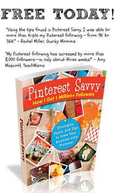 Pinterest Savvy is FREE on Kindle 2/7/13. Shares the secrets to being awesome on Pinterest!