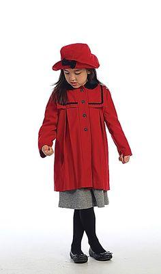 Angels Garment Angel Garment Red Wool Coat Hat Outerwear Set Toddler Little Girl Red Flower Girl Dresses, Red Wool Coat, Cute Coats, Girls Winter Coats, Sailor Fashion, Coat Sale, Girl With Hat, Coat Dress, Jackets For Women