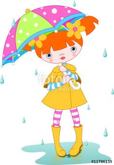 """Girl rain"" Stock image and royalty-free vector files on Fotolia.com - Pic 11786139"