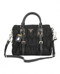 241934eca728 Prada Gaufre Nylon Tessuto Handbag BN1336 Black [BN1336NylonBlack] -  $429.00 : 9PmAve.com