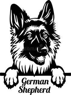 German Shepherd Tattoo, Tattoo Catalog, Wood Signs Sayings, Animal Graphic, Schaefer, Dog Rules, Silhouette Art, Stencil Art, Adult Coloring Pages