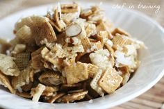 Ooey Gooey Cereal Snack Mix! This stuff is SO easy to make and completely addictive!