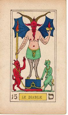 OSWALD WIRTH TAROT - THE DEVIL 1889