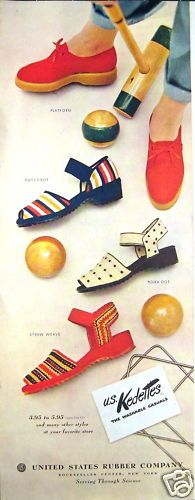 Vintage 1949 Keds Womens Casual Shoes ad. #vintage #shoes #fashion #1940s #ads
