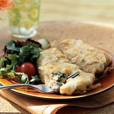 Fill tender crepes with a creamy mixture of chicken, cheese, frozen chopped spinach and sliced mushrooms for an elegant but easy weeknight meal. You can make the Basic Crepes ahead of time and freeze them until you're ready to use them in a recipe.