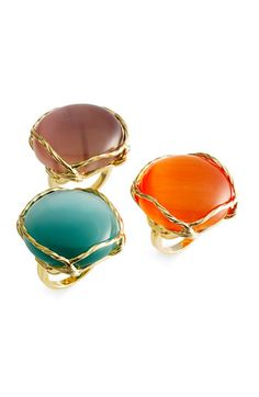 Ariella Collection Round Cat's Eye Ring - Ooo pretty!