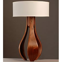 Chloe Walnut Table Lamp - Click Image to Close