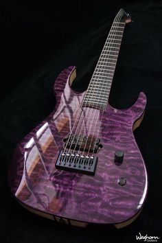 Kiesel Guitars Carvin Guitars AM7 (Aries Multiscale) Deep purple ...