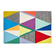 "We have a theory about this multicolor triangle rug. If you add it to you home, the bright geometric pattern is sure to add a nice touch of color to a bedroom or kids' playroom.<br /><br /><NEWTAG/><ul><li>Nod exclusive</li><li>Designed by Ampersand Design Studio</li><li>Hand-tufted</li><li>Swatches available</li><li>Pile Height: 8 mm to 9 mm</li><li> <a href=""/assets/assistance/pdf/LON_RugGuide.pdf"" rel=""external"">Click to see Rug Guide</a></li></ul><h2>Show 'em what you're made…"