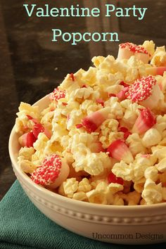 Whip up this delicious Valentine Party Popcorn in no time! Perfect for your holiday celebration.