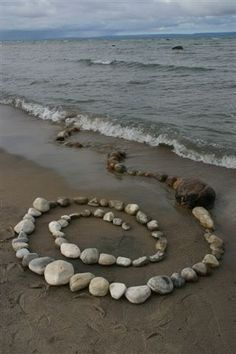 Sea Witch: ~ Spiral on the sand. Wicca, Magick, Cap D Antibes, Instalation Art, Juan Les Pins, Villefranche Sur Mer, Sea Witch, Saint Jean, Witch Aesthetic