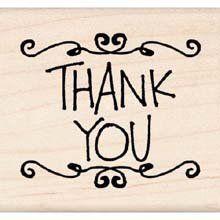Inkadinkado Rubber Stamp - Scrolly Thank You