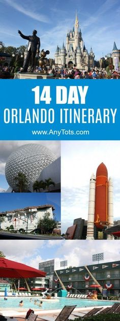 2 Week Orlando itinerary. Go on a 14 Day Orlando Vacation by following our Day to Day Guide. See Disney World, Universal Orlando, Legoland Florida, Kennedy Space Center, Cruise, and a lot more attractions in Orlando Florida you've never heard of. www.anytots.com for more Orlando Travel Tips. #familytravel #travel #Orlando #Florida