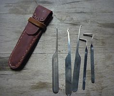 Lockpick tool set made from bandsaw blades