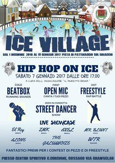 """Sabato 7 gennaio all'Ice Village """"Hip hop on ice"""" - http://www.gussagonews.it/ice-village-hip-hop-on-ice-gennaio-2017/"""