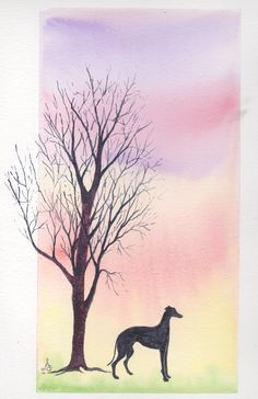 Facebook online auction see David's Best Mate Memorial Fund.  Watercolour, mounted unframed. Similar commissions undertaken - background colours to suit. £25
