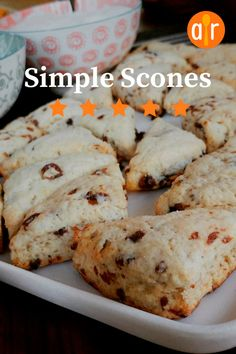 Make a holiday breakfast -- or afternoon tea -- really special with these sweet bakery treats. Cherry Scones, Savory Scones, Potluck Desserts, Star Food, Sweet Bakery, Orange Zest, Weight Watchers Meals, Blueberries, Allrecipes