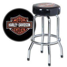 Harley-Davidson Bar & Shield Single Ring Bar Stool. HDL-12124