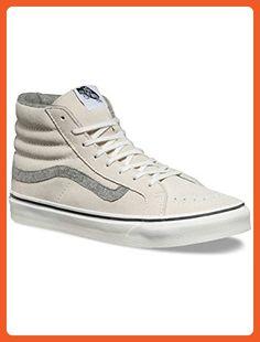 new style 58ec9 54ebb Vans Sk8 Hi Slim Mens White Suede High Top Lace Up Sneakers Shoes 4.5 -  Sneakers