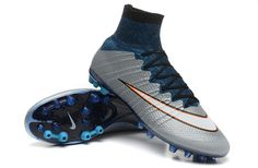 Funny Nike Mercurial Superfly CR AG Blue Silver White  109.99 6592d0fcf0b70