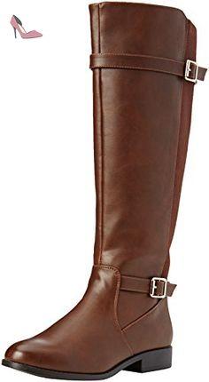 e7a1ced5da8ad New Look Wide Foot Egerton - Bottes d équitation - Femme - Marron (Tan) -  37 EU (4 UK)  Amazon.fr  Chaussures et Sacs