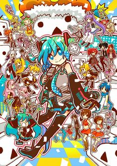 Almost all Vocaloid!  Oh gosh I wish I could name everyone! XD  Maybe soon...