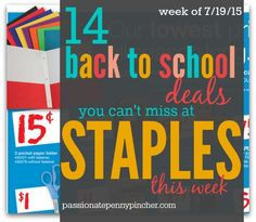14 Back to School Deals You Can't Miss At Staples This Week