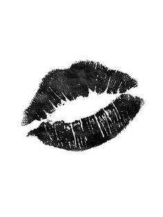 Art Print: Lips Black by Brett Wilson :