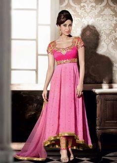 Pink Anarkali Suit
