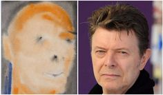 An abstract painting called DHEAD which bears no resemblance to Bowie at all, instead looking like certain bald celebrities, is being sold. David Bowie, Many Faces, Watercolor Tattoo, Auction, Album, Portrait, Abstract, Celebrities, Image