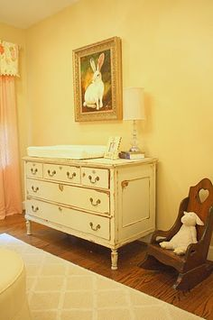antique nursery - creams and pinks