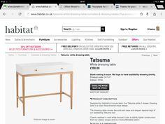 Habitat dressing table
