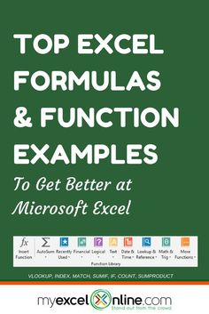 CLICK TO VIEW ALL 50+ EXCEL FORMULAS | Learn Microsoft Excel Tips + Free Excel Tutorials & Cheat Sheets | The Most In-Depth Excel Video Courses Online at http://www.myexcelonline.com/138-23.html