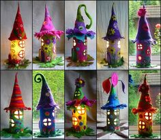 Felt Fairy Houses -  Google Images