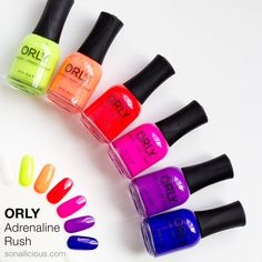 Orly Adrenaline Rush collection review: http://sonailicious.com/orly-adrenaline-rush-summer-2015-collection/