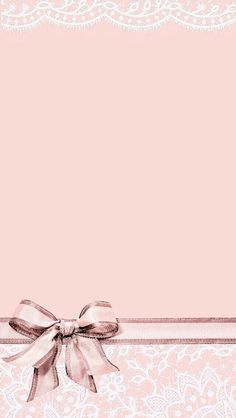 Pink Coral Black Bow Tie Iphone Wallpaper Phone Background Lock