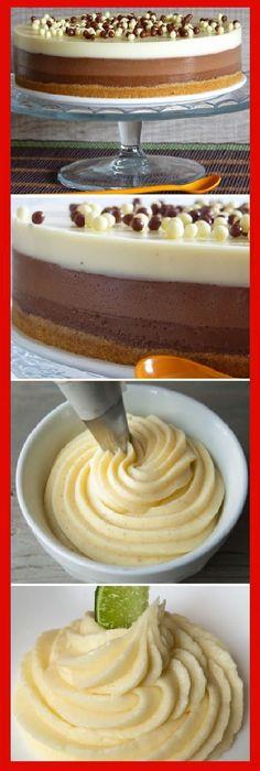 2 RECETAS: Tarta Tres Chocolates y Crema de almendra para tartas y tartaletas. #receta #recipe #casero #torta #tartas #pastel #nestlecocina #bizcocho #bizcochuelo #tasty #cocina #cheescake #helados #gelatina #gelato #flan #budin #pudin #flanes #pan #masa #panfrances #panes #panettone #pantone #panetone #navidad #chocolate Si te gusta dinos HOLA y dale a Me Gusta MIREN.. Sweet Desserts, Delicious Desserts, Yummy Food, Cake Recipes, Dessert Recipes, Spanish Desserts, Tres Chocolates, Sugar Free Recipes, Drip Cakes