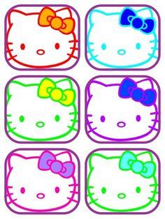 Multi colerd Hello Kitty's. :)