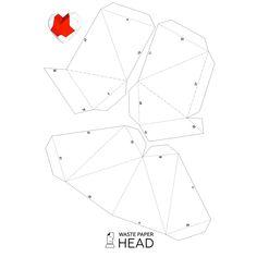 Вы можете сделать бумажное сердце! Печатный цифровой шаблон (растровый .PDF) сердца содержит 3 страницы и 7 деталей (уровень сложности: простой). С его помощью вы можете создать полигональную бумажную скульптуру. Для получения финального результата необходимо сделать следующие простые