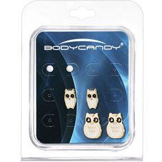 What a Hoot White Owl Stud Earring Set $12.99 #owl #earring