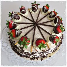 Thermomix - Rezepte mit Herz : Erdbeer - Mascarpone - Torte