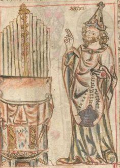 Armenbibel in 41 Darstellungen ungefähr zwischen 1360 und 1375 Cgm 20 Folio 1v