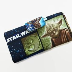 Star Wars Women's Wallet Credit Card Holder by VintageFabricFinds. Holds 38 cards, money, coins and more