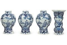 Dutch Delft Vases