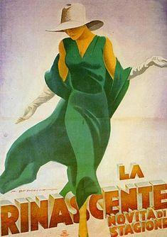 Marcello Dudovich (1878-1962) – La Rinascente (ca 1931)