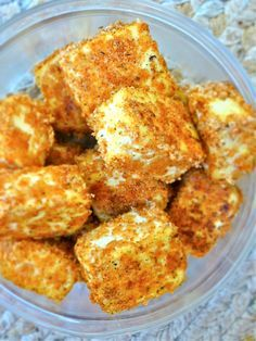 Baked tofu nuggets - ate something like this in Vietnam and it was so good!