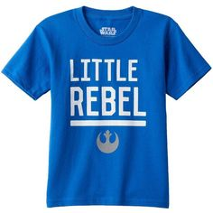 "Toddler Boy Star Wars Episode II The Force Awakens ""Little Rebel"" Tee ❤ liked on Polyvore featuring baby"