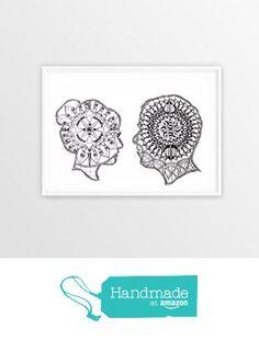 talking lovers mandala drawing from NaturalBornImages http://www.amazon.com/dp/B015HSPGOO/ref=hnd_sw_r_pi_dp_obTfwb068CE32 #handmadeatamazon