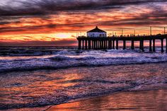 Manhattan Beach Pier, CA    We loved living near the beach in LA. So hard to leave the relaxed lifestyle ... I savored the sunsets during our two years there.