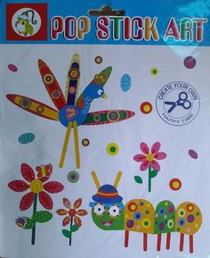 Pop Stick Art - KidsnCrafts Online Store Pop Stick, Stick Art, Craft Projects For Kids, Crafts For Kids, Create Yourself, Kids Rugs, Store, Home Decor, Crafts For Children